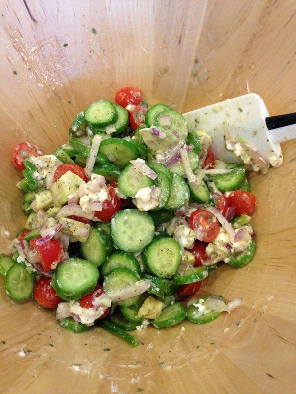 Recipe Cucumber Salad Liz Eaton Designs